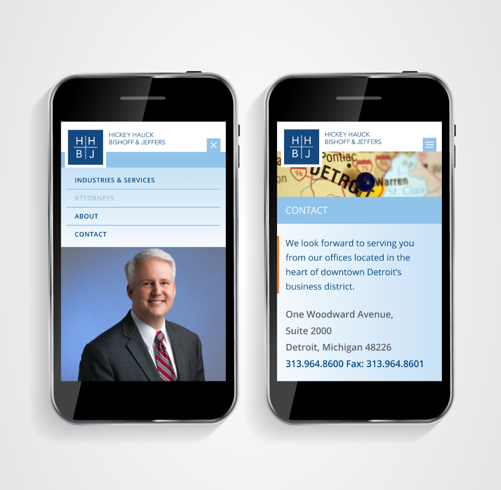 Law Firm Website Design - Mobile - HHBJ