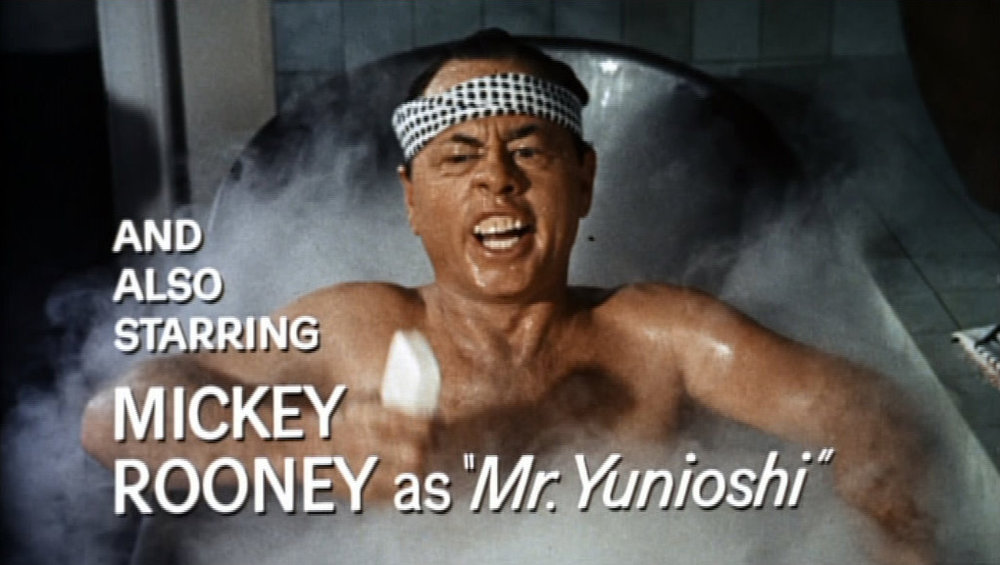 Mickey Rooney, a white actor, plays Mr. Yunioshi in the famous film Breakfast at Tiffany's.