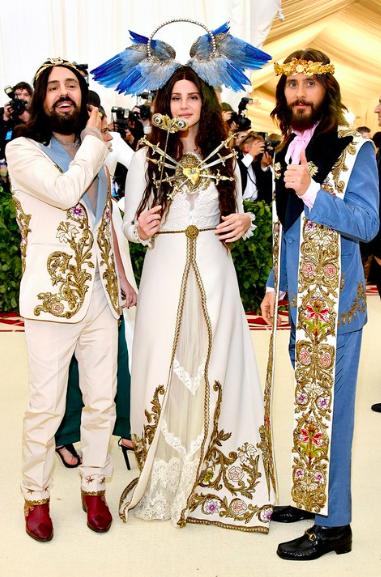 Alessandro Michele, Lana Del Rey, & Jared Leto in Gucci