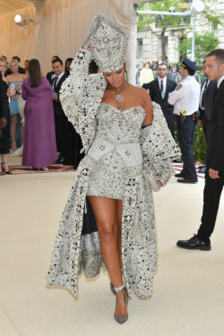 Rihanna in custom Maison Margiela by John Galliano