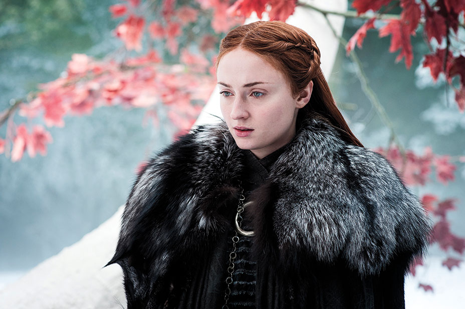 Sansa Stark who is played by Sophie Turner
