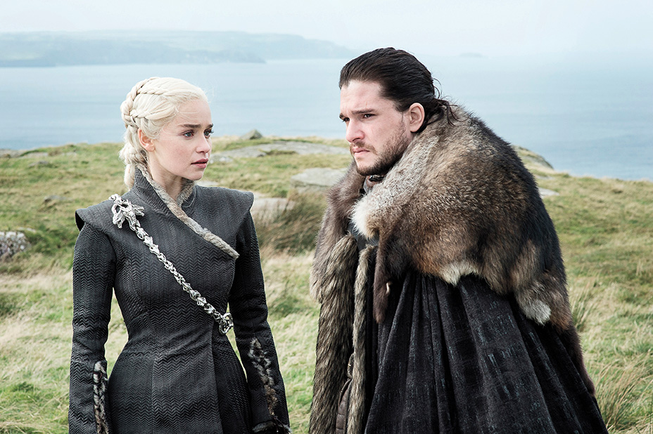 John Snow and Daenerys Targaryen