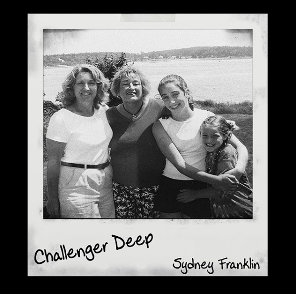 "Track art for Sydney Franklin's ""Challenger Deep"""