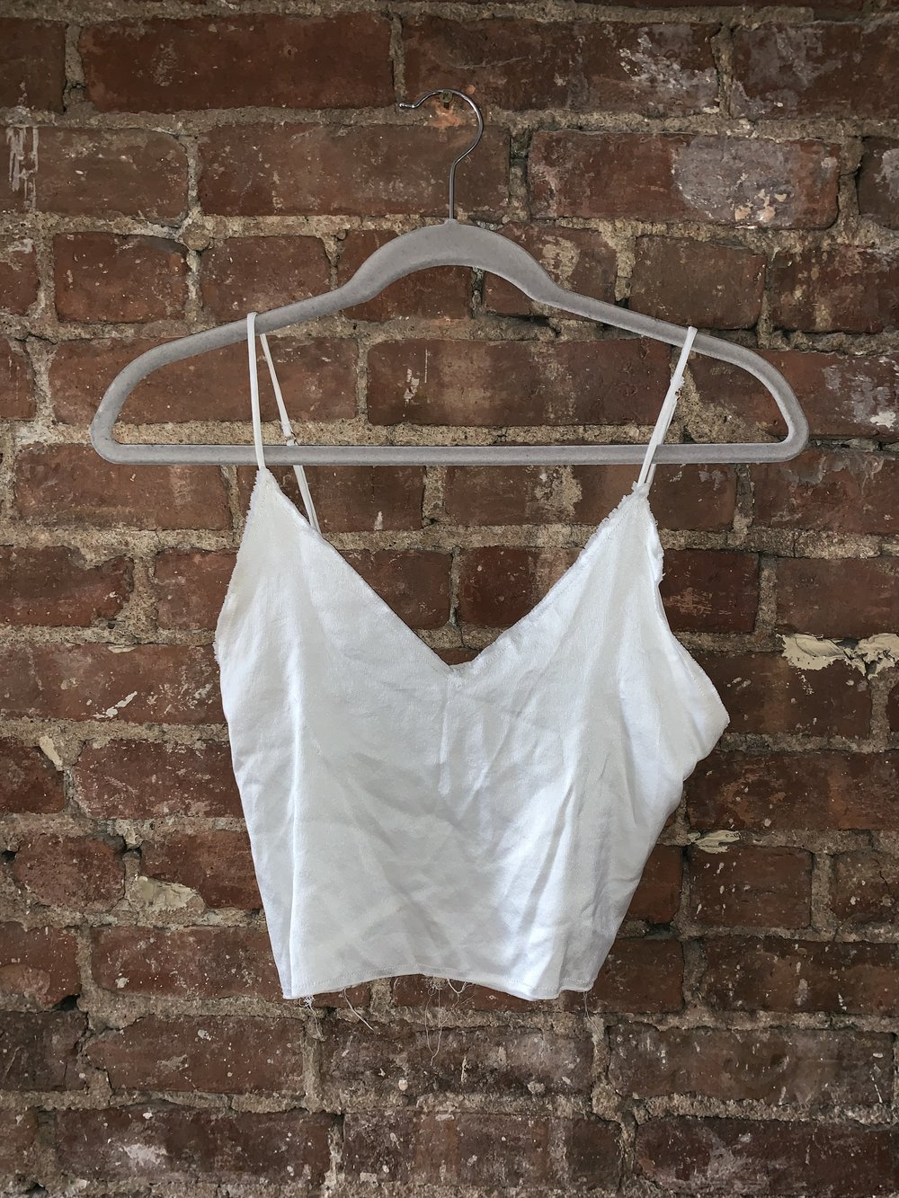 Silk white cami