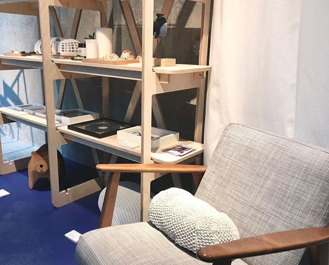 Our friend Alex Colle @9732s is presenting his thesis project Maah - Sentient domestic artefact at the Degree Show 2018 Central Saint Martins.  He is using our open shelving unit to set up a home space for his domestic robot.  #furniture #design #industrialdesign #cnc #digital #manufacturing #omol #degreeshow #maid2018 #environment #home #space #setting #domestic #robot #publics #project
