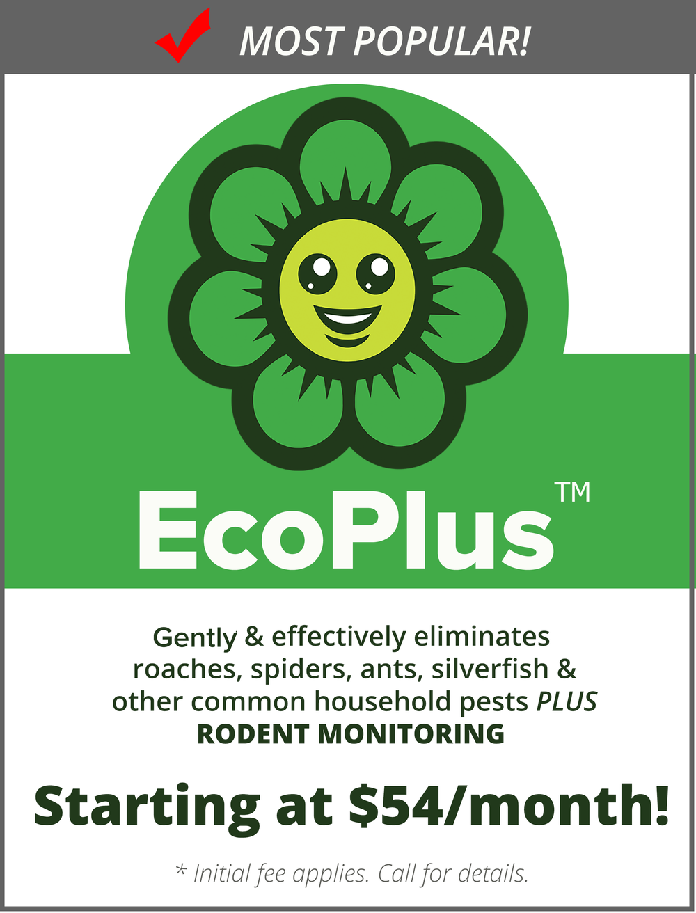 EcoPlus Protection Plans start at just $54/mo.