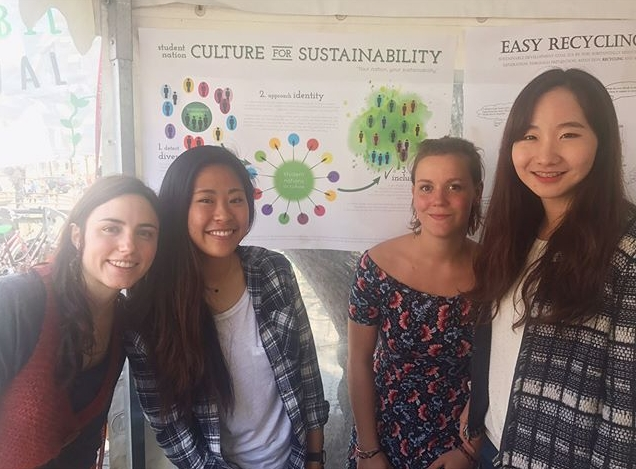 The team presenting our work at the Uppsala Sustainability Festival.