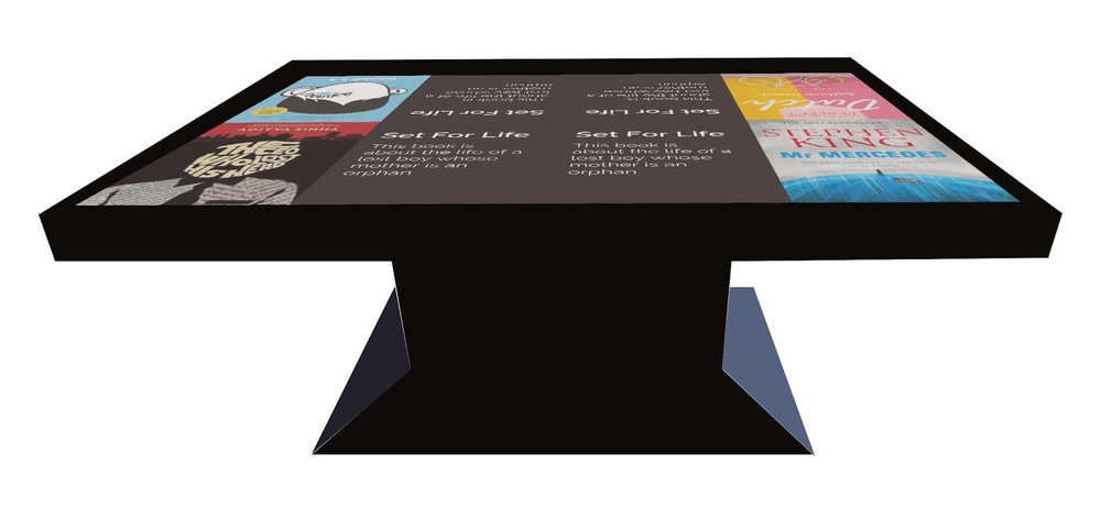 Mockup of table's form (screens shown above are from a previous iteration).