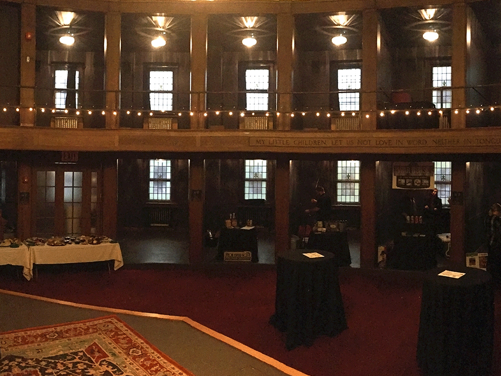 Cabaret Hall set up for event