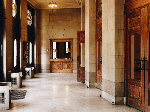 Foyer and entry to lobby