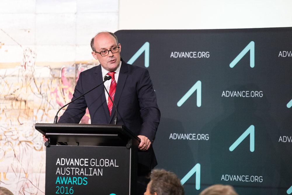 Professor David Fidock at the Advance Global Australians awards