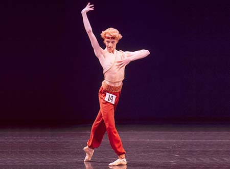 Steven McRae was 16 when he performed in the Royal Academy of Dance's Genée International Ballet Competition in 2002. Credit: Branco Gaica, courtesy of the Royal Academy of Dance.