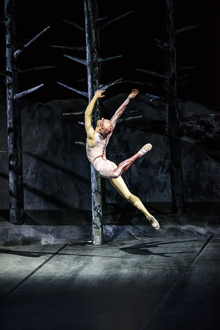 Steven McRae as The Creature in Frankenstein. Credit: Royal Opera House, 2016. Photographed by Bill Cooper.