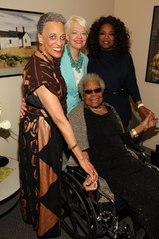 Johnnetta Cole, Kim Sajet,Oprah Winfrey & Maya Angelou