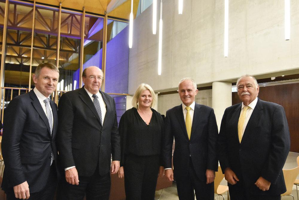 Dominic Stevens,ASX CEO;Peter Warne, ASX board member; Yasmin Allen, Advance Chair;Rick Holliday-Smith, Chairman of ASX