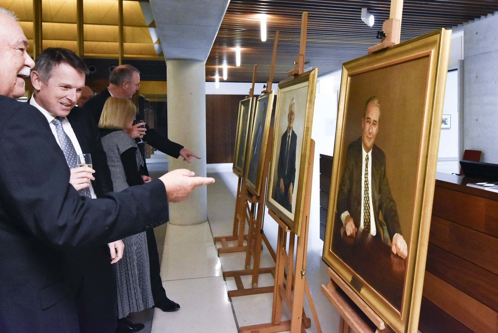 Portraits of various past ASX CEOs and board members