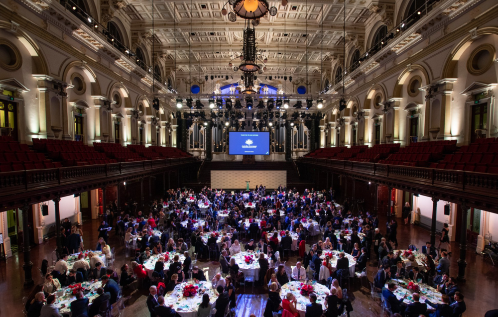 Awards at the Sydney Town Hall