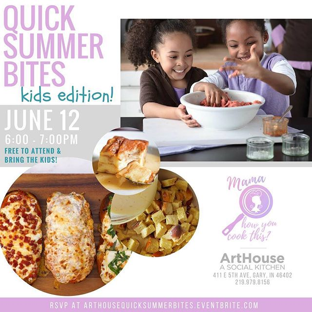 Come join me @arthousegaryevents this Tuesday at 6 make sure to bring the kids! #mamahowyoucookthis