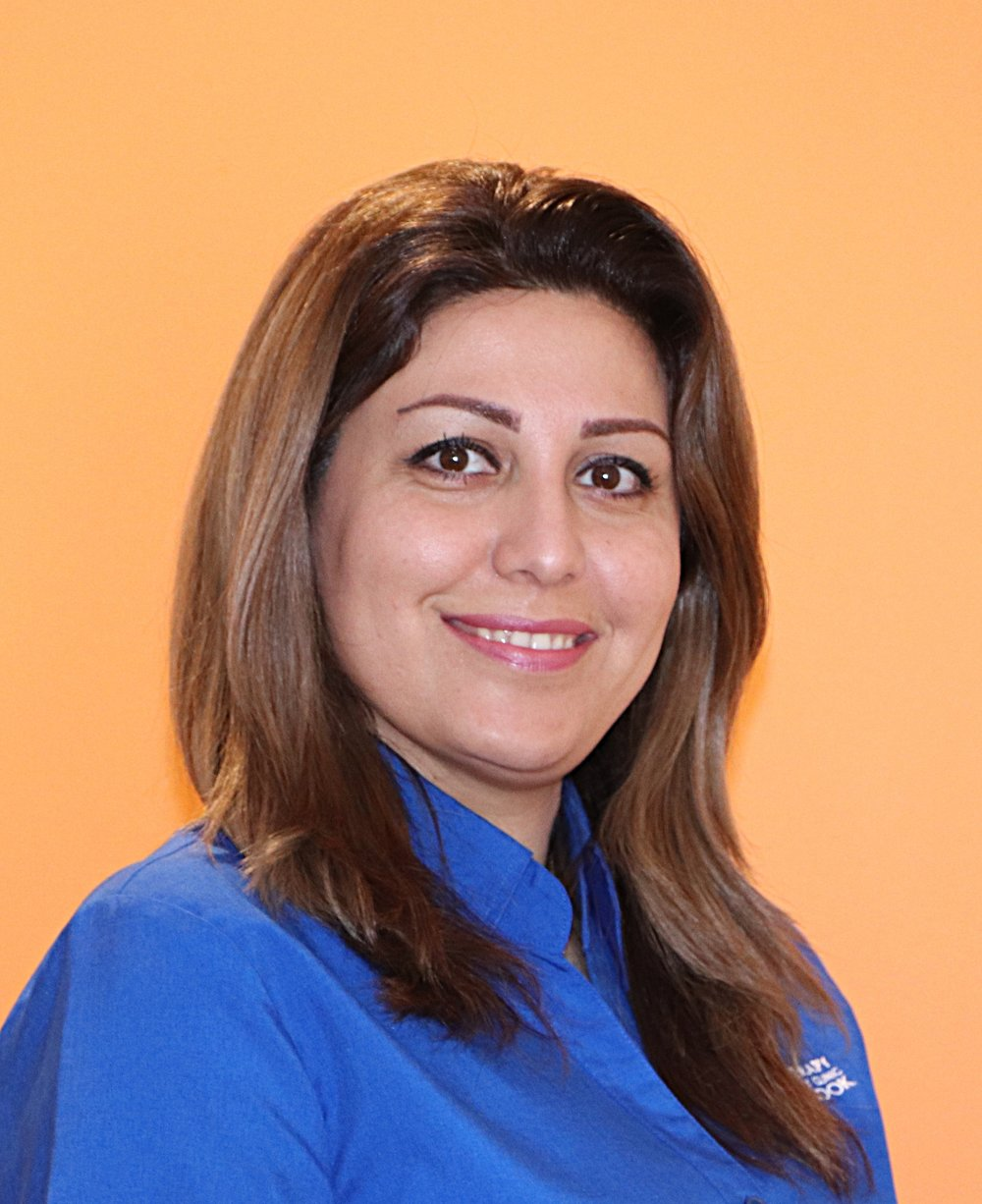 Hello! My name is Maya. - Maya has been a qualified physiotherapist since 2000, initially completing her qualification in Tehran and then re-qualifying in Australia in 2006. As well as physiotherapy, Maya also has qualifications as a chiropractor and natropathy.She has a keen interest in pain management, mobility improvement and hands-on therapy with exercise focused management of sporting injuries.You can book an appointment with Maya on:Monday 8am - 7pmWednesday 2pm - 7pmThursday 8am - 12pmFriday 2pm - 6pmSaturday 8am - 12pm