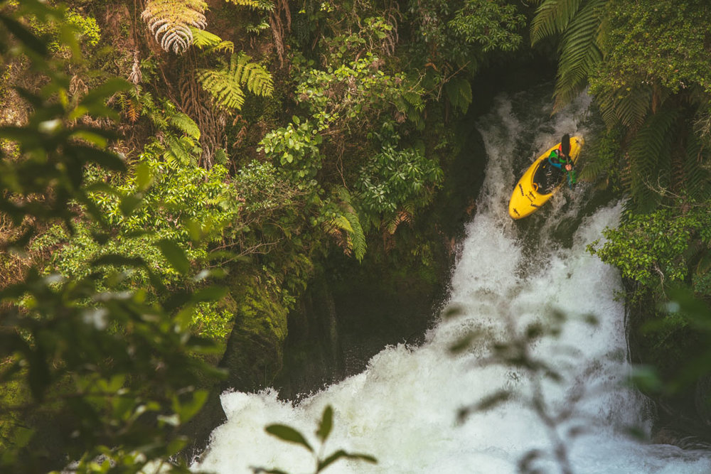 My mate Rani sending it off the falls.