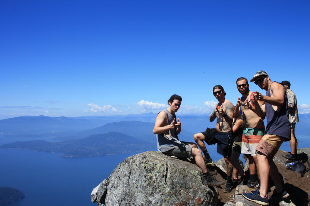 The boys striking a pose at Bowens Lookout.
