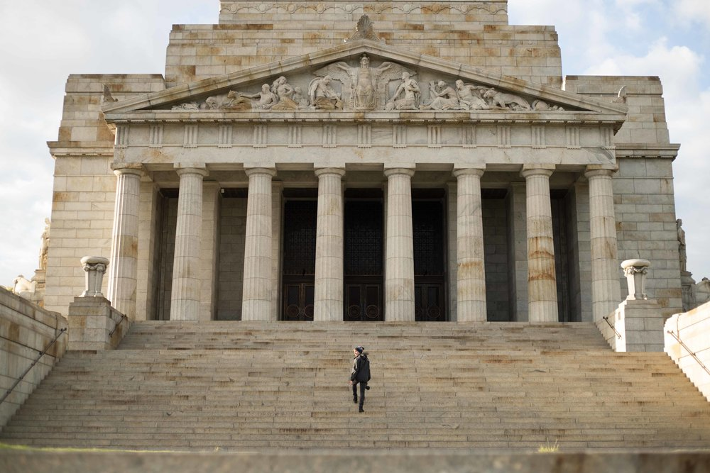 The Shrine of Remembrance in Melbourne is a beautiful building that gives thanks to all those brave men and women that gave their lives in war time in order to give Australians the freedom they have today.