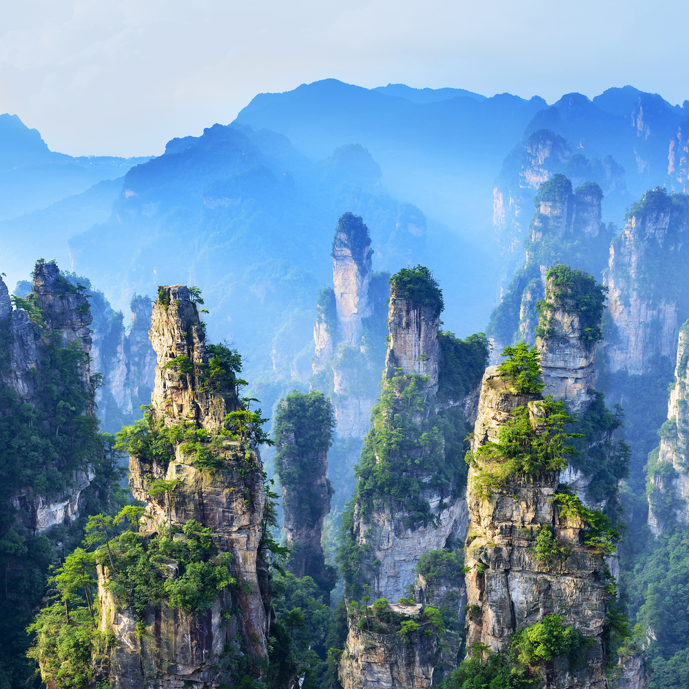 Remind you of Avatar - This is the hallelujah mountains. (Image sourced from google)