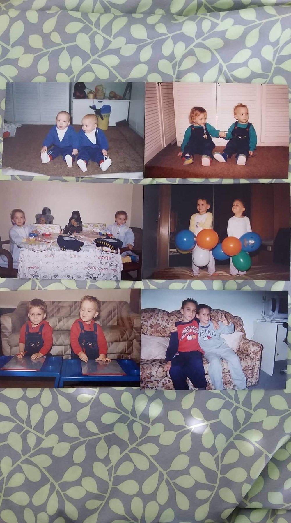 Paulo & I as kids… yeah we were cool as f*ck!