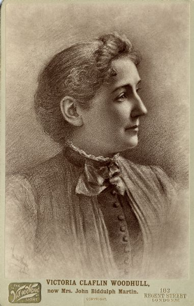 Victoria Claflin. The Wisconsin Historical Society.