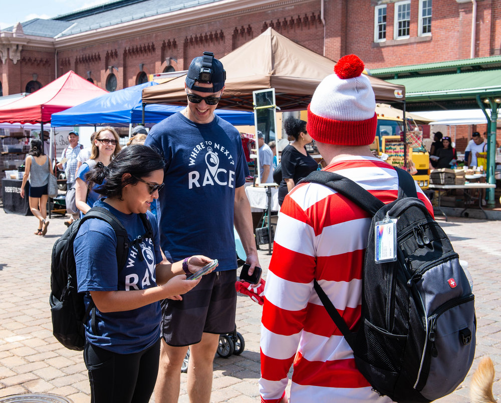 Racers find Waldo hanging out in Eastern Market in Washington, D.C.