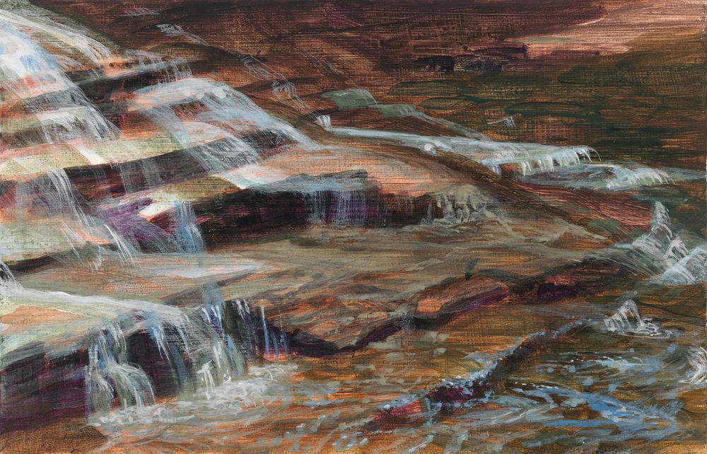 """Ithaca, 2014, acrylic on panel, """" x """""""
