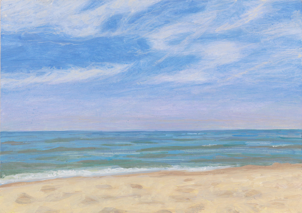 "Warren Dunes, 2009, acrylic on panel, 6"" x 8"""