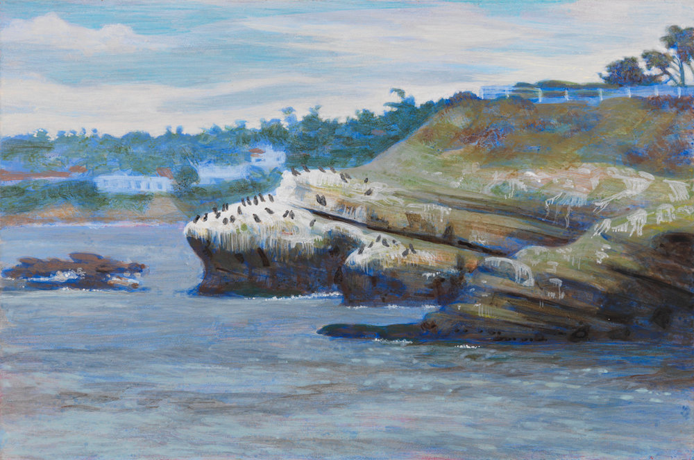 "La Jolla Cove, 2003, acrylic on panel, 6"" x 9"""