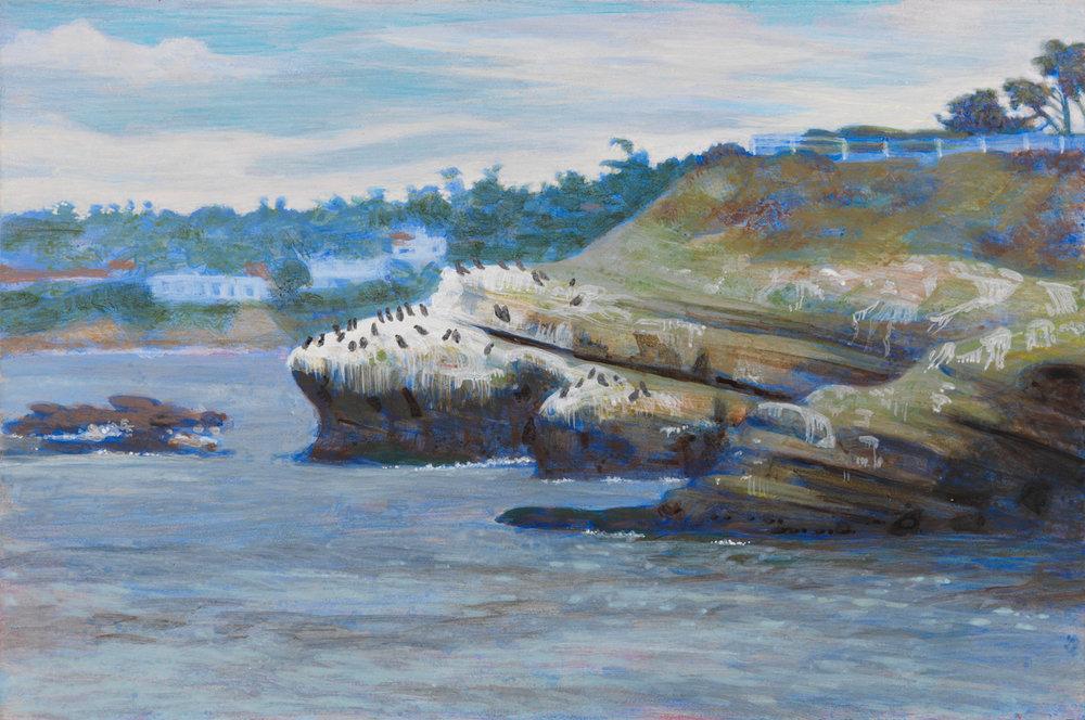 """La Jolla Cove, 2003, acrylic on panel, 6"""" x 9"""""""