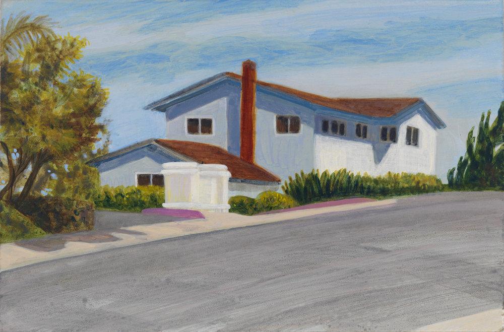 "Paducah Drive, 2003, acrylic on panel, 4"" x 6"""