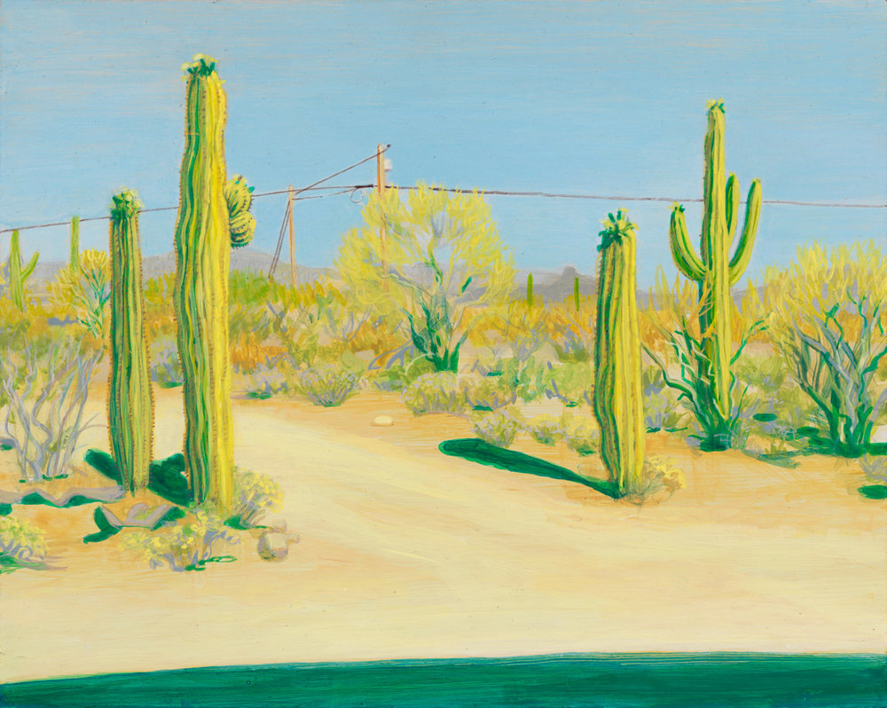 "Tuscon, 2000, acrylic on panel, 8"" x 10"""