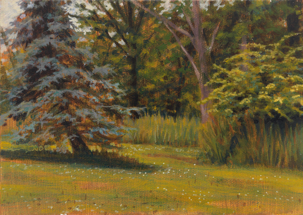 "Pennsylvania Landscape 2, 1997, acrylic on canvas, 5"" x 7"""