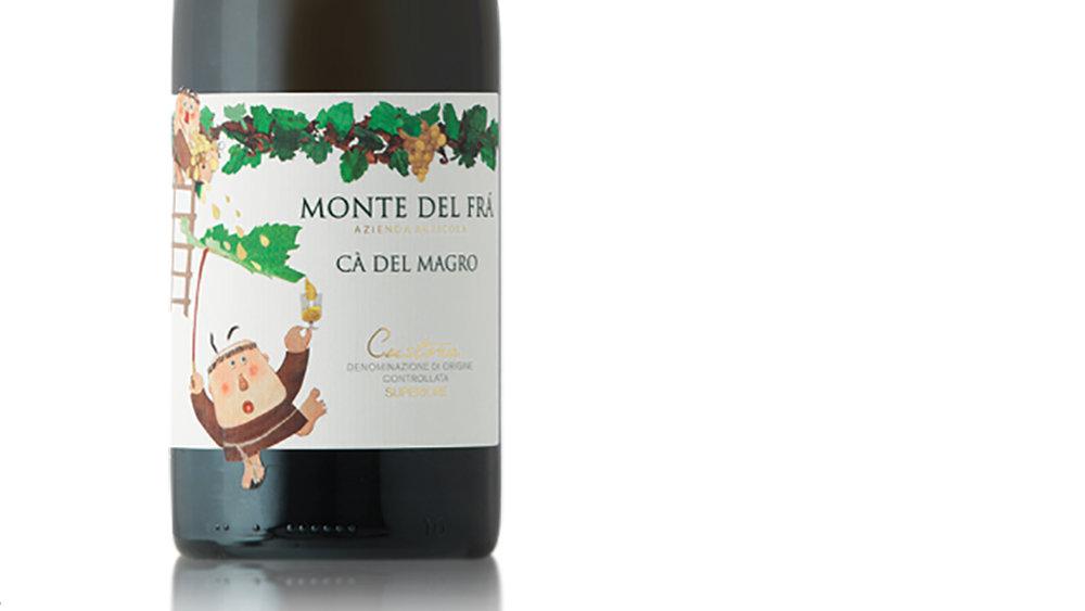 The Monte del Frà Cà Del Magro Custoza is a gorgeous, contemplative Italian white wine blend.