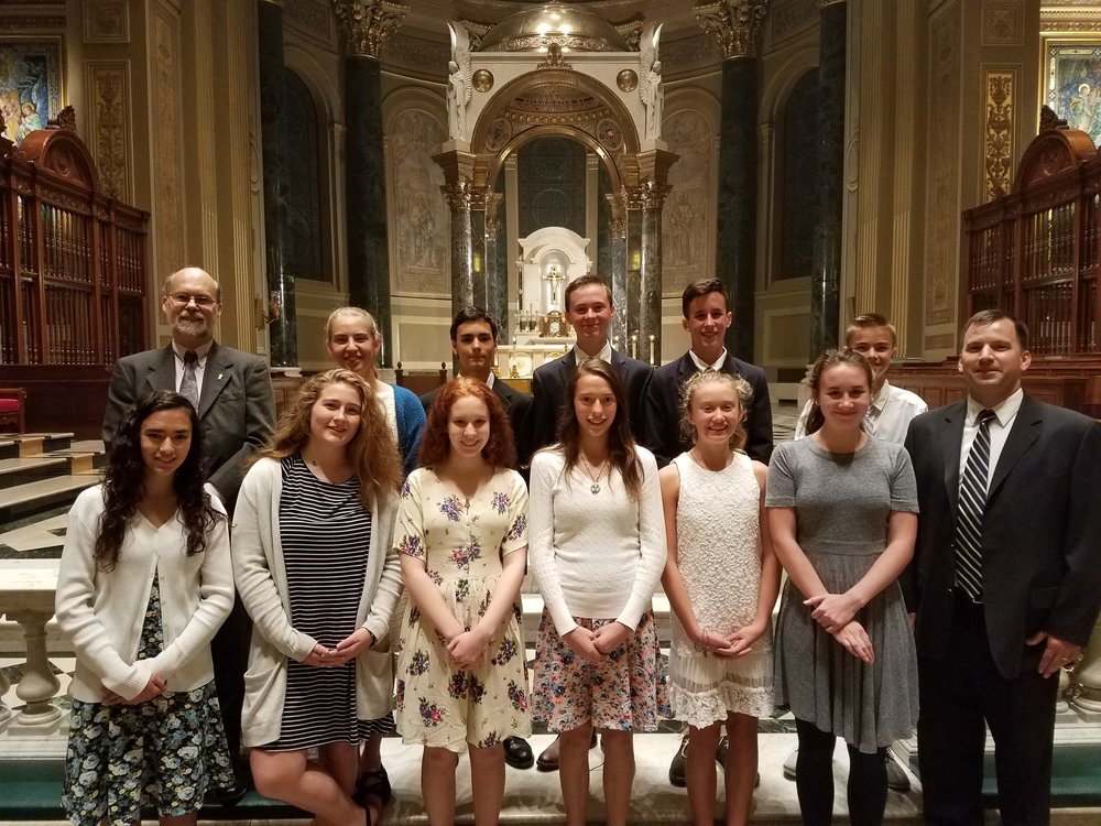 Students and staff gathered for Mass at the historic Cathedral Basilica of Sts. Peter & Paul in Center City Philadelphia.