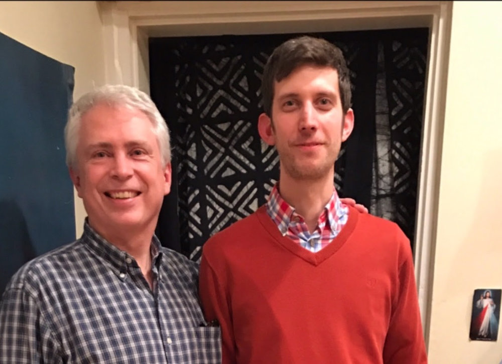 Pictured above: at home in Deacon Roberts' kitchen, with visitor Milan Žonca, a Catholic professor from Prague who translated  Rod Dreher's Benedict Option  into Czech.