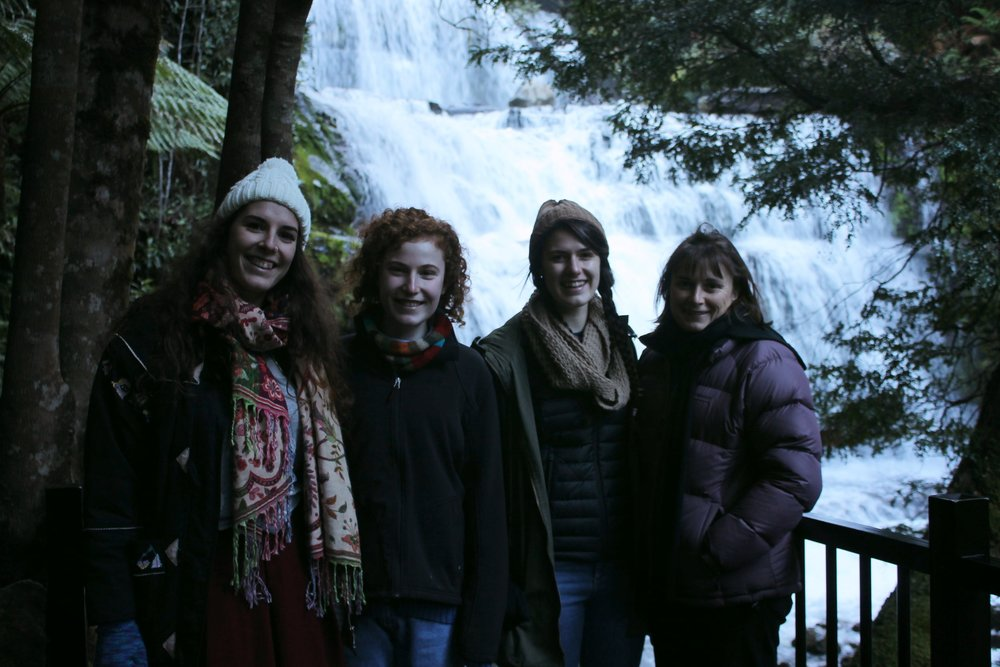 Four freezing but happy chappys at the falls