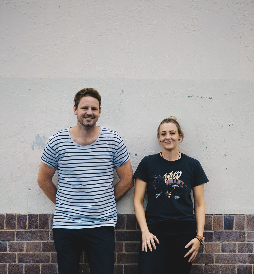 Bec McCall  (Right) – Art Director               Rhys Venning  (Left) –  Copywriter
