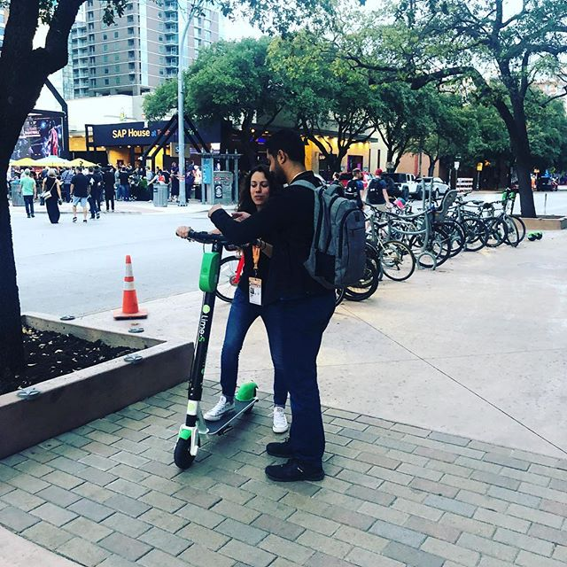 Attempting some scootering #sxsw