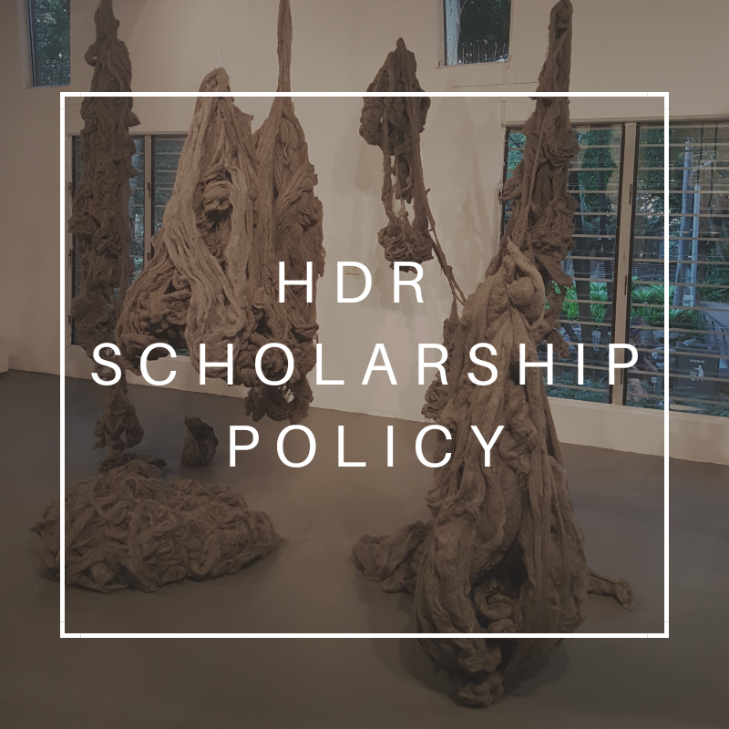 HDR scholarship policy