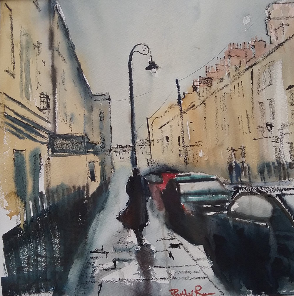 Going Home - Watercolour on Paper - SOLD