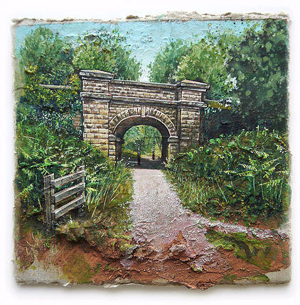 Dilke Bridge - Mixed Media