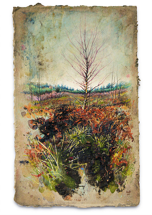 Winter Birch - Mixed Media