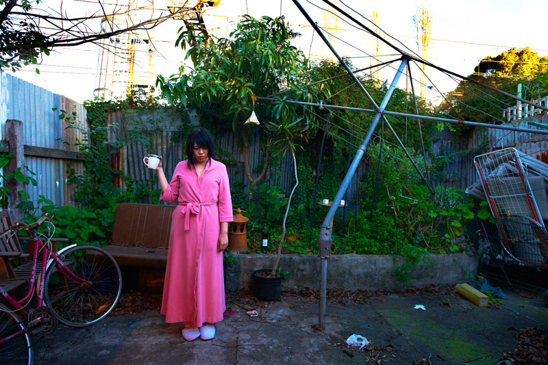Self Portrait In Backyard (St Peters) /  2008  Winner of the Art & About Sydney Life People's Choice Award