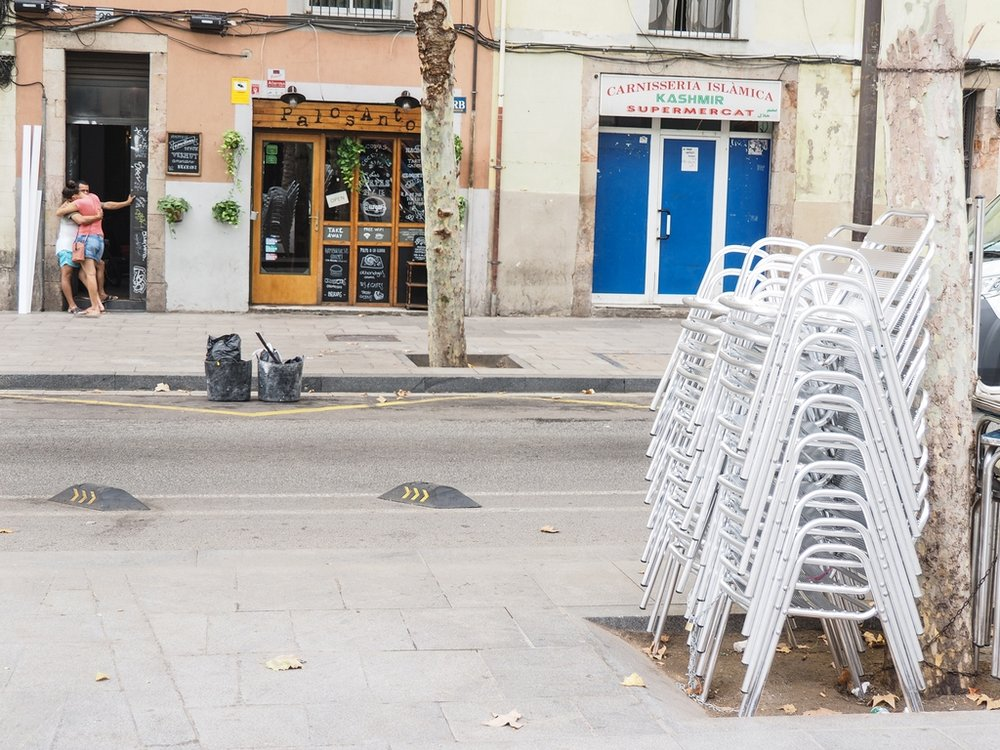 Barcelona - Empty Street after the Attack © Peter Tilsley