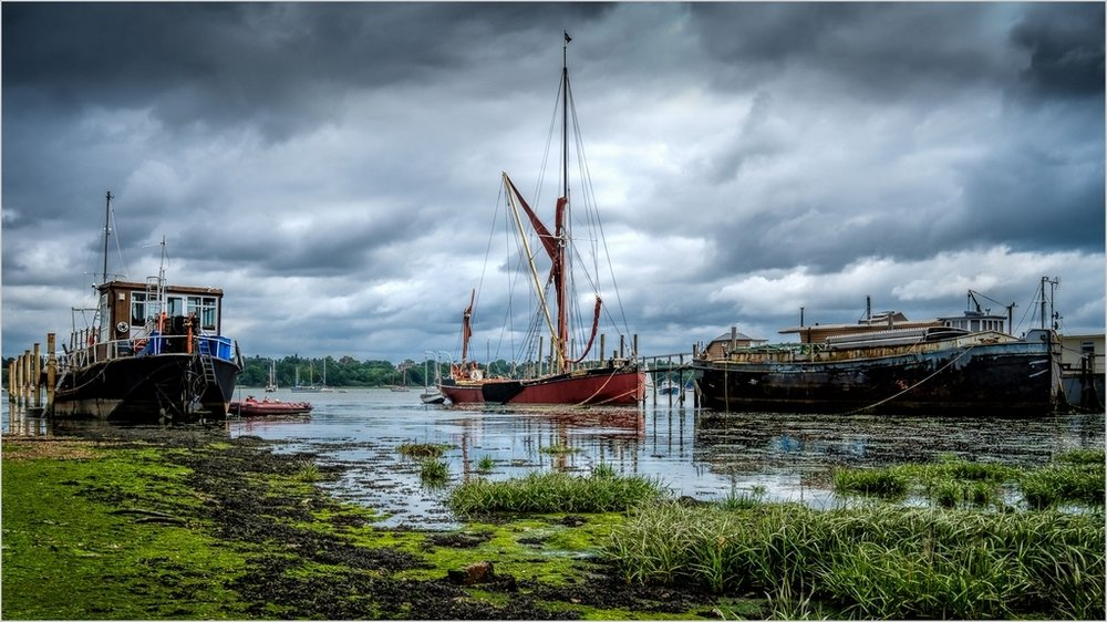 Low Tide Pin Mill © John Livy LRPS